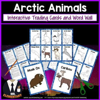 Arctic Animals Trading Cards, Posters, and Activities