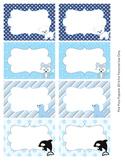 Winter Arctic Animals Bin Tag Labels