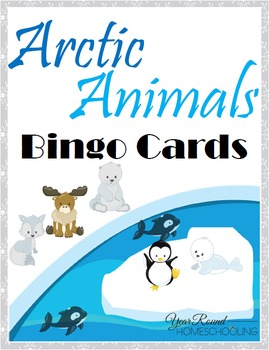 Arctic Animals Bingo Cards