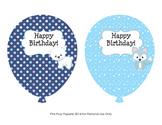 Winter Arctic Animals Birthday Balloons