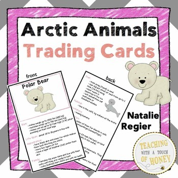 Arctic Animals - Trading Cards and Report Writing Templates BUNDLE