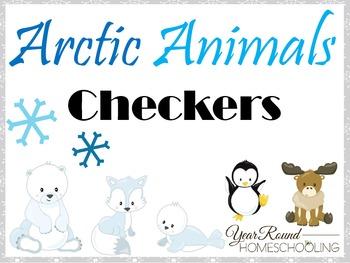 Arctic Animals Checkers