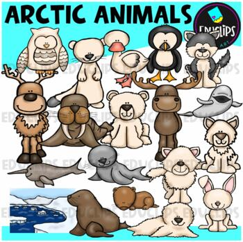 Arctic Animals Clip Art Bundle {Educlips Clipart}