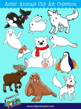 Arctic Animals Clip Art Collection