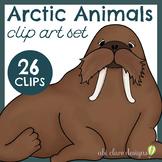 Arctic Animals Clip Art Set