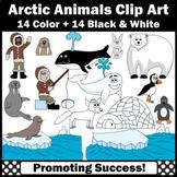 Arctic Animals Clipart, Eskimo, Igloo, Seal, Pengiun SPS