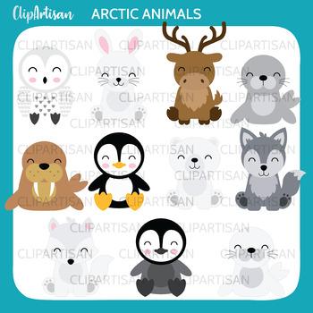 Arctic Animals Clipart, Polar Animals Clipart