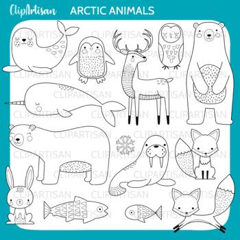 Arctic Animals Clip Art, Polar Animals