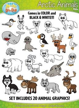 Arctic Animals Clipart {Zip-A-Dee-Doo-Dah Designs}
