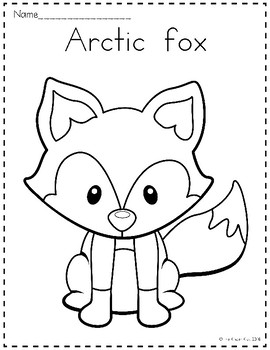 arctic animals coloring pages by the kinder kids tpt. Black Bedroom Furniture Sets. Home Design Ideas