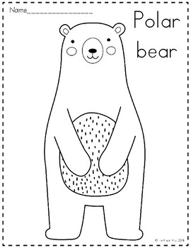 Arctic Animals Coloring Pages by The Kinder Kids | TpT