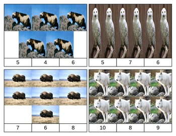 Arctic Animals Count and Clip Task Cards