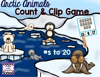 Arctic Animals Count & Clip (Numbers to 20)