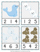 Arctic Animals Count and Clip Cards Numbers 1-12