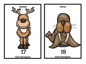 Arctic Animals Counting Mats