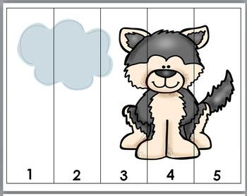 Arctic Animals Math - Number Puzzles 1-10
