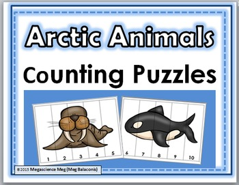 Arctic Animals Counting Puzzles Numbers 1-10