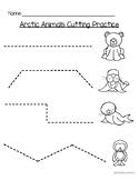 Arctic Animals Cutting Practice