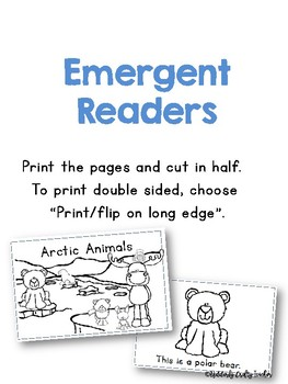 Arctic Animals Emergent Readers | Two Styles Included!