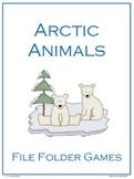 Arctic Animals File Folder Games