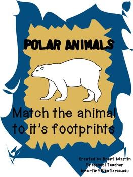 Arctic Animals - Footprint Matching Activity