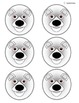 Arctic Animals Fraction Circles for Autism