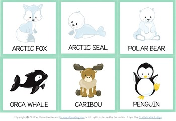 Arctic Animals Games and Activities (Suitable also for Montessori)