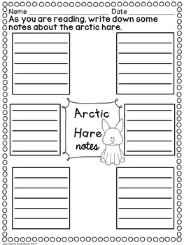 Arctic Animals Graphic Organizers: Fact Writing, Organizers, Nonfiction Resource