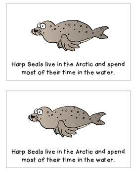 Arctic Animals: Harp Seal Emergent Reader and K-W-L Chart