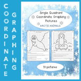 Arctic Animals. Have Fun with Mystery Pictures! -Single Quadrant Coordinate Pics