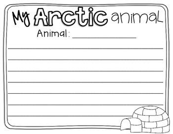 Arctic Animals Informative Writing Freebie