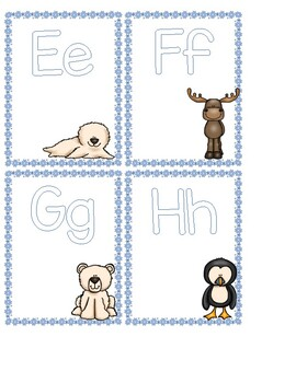 Arctic Animals Letter Cards