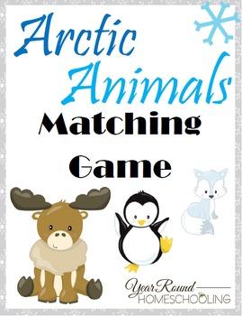 Arctic Animals Matching Game