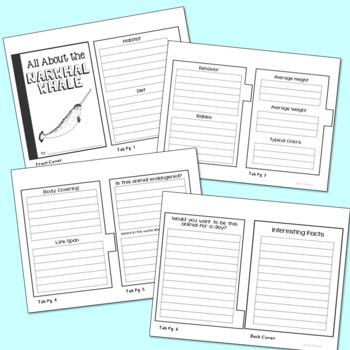 Arctic Animals Mini Book Research Templates, Set of 14, Interactive Notebook