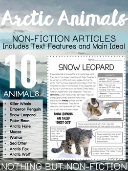 Main Idea Non-Fiction Articles: Arctic Animals