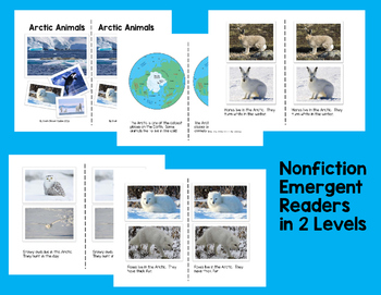Arctic Animals Nonfiction Emergent Readers with Worksheets