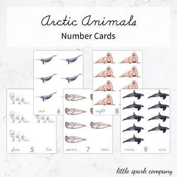 Arctic Animals Number Cards