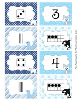 Arctic Animals Numbers 1-10 Match Activity