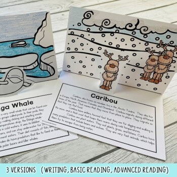 Arctic Animals & Penguins Too! Pop Ups (8 Reading or Writing Pop Up Cards)