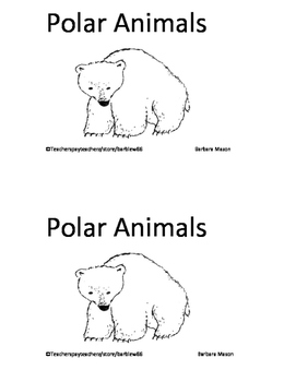 Arctic Animals Polar Animals Skills Pack inc. 4 Printable Books (Level A - D)