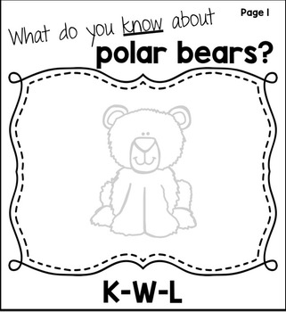 Arctic Animals: Polar Bears Close Reading Flip Flap