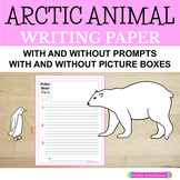 Arctic Animals: Primary Writing Paper- With Drawing Boxes