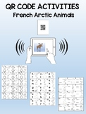 Arctic Animals QR Code activity sheets (French version)
