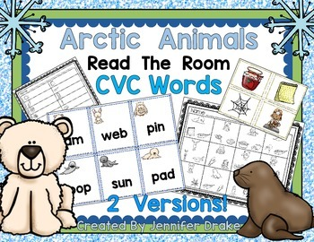 Arctic Animals Read the Room for CVC Words