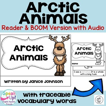 Arctic Animals Reader & Vocabulary Activities for Winter