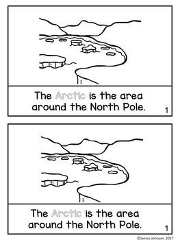 Arctic Animals Reader & Vocabulary Activities for Winter