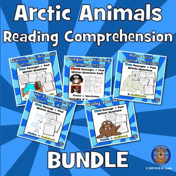 Arctic Animals Reading Comprehension BUNDLE: Winter Reading Comprehension