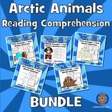Arctic Animals Reading Comprehension BUNDLE: Winter Reading Comprehension