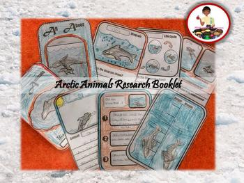 Arctic Animals Research Booklet Templates