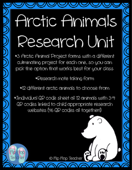 Arctic Animals Research Unit with 46 QR code research links!